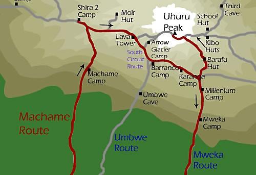 Trek Kilimanjaro, voie Machame 1 trek kilimanjaro voie machame1