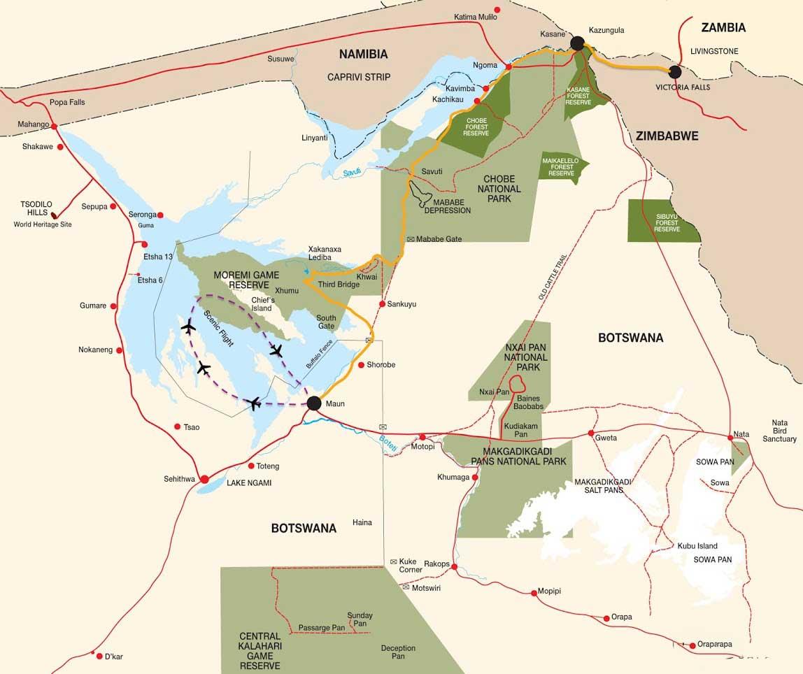 Essentiel du Botswana 1 botswana essentiel du botswana carte