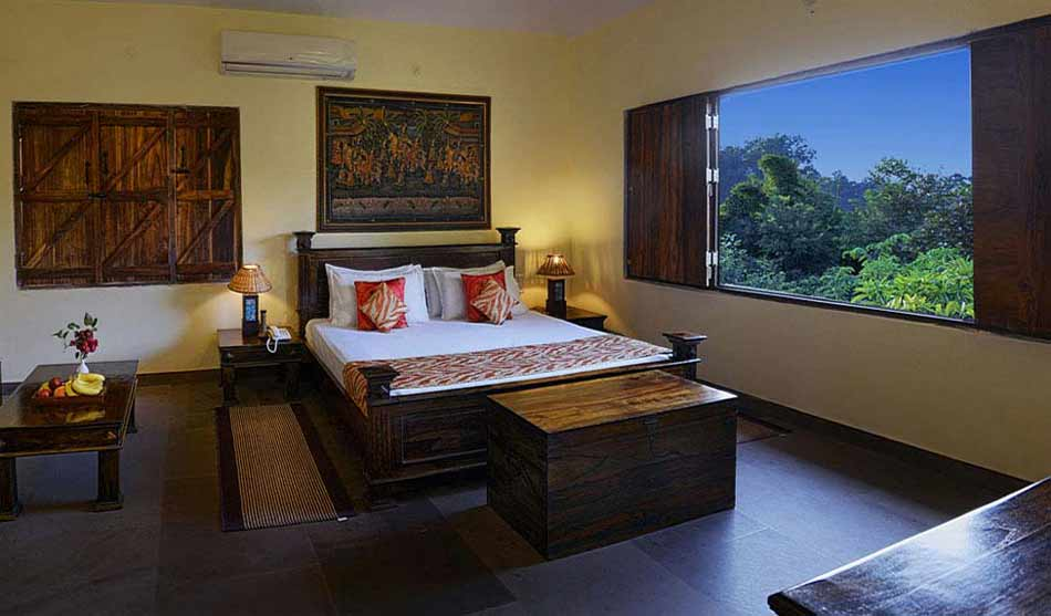 Lodges Réserve de Kanha 1 inde courtyard house0