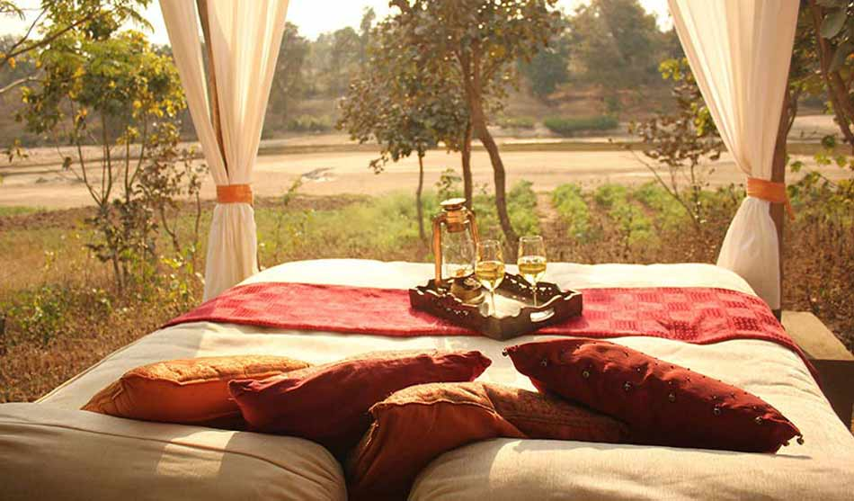 Lodges Réserve de Kanha 3 inde flame of the forest0