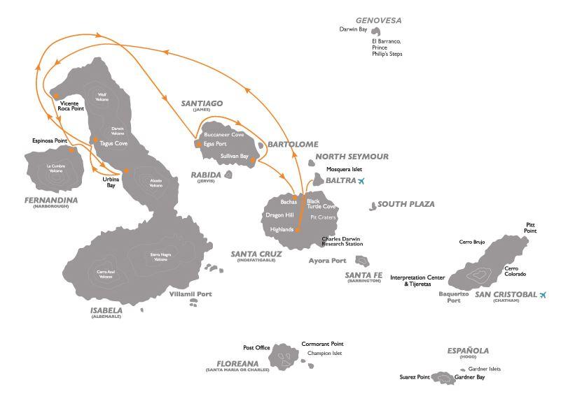 Croisière aux Galapagos 2 equateur gogalapagos coral ouest