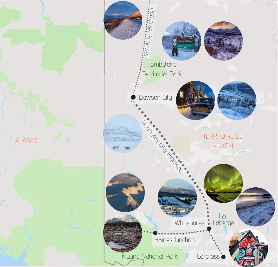 Voyage photographique en territoire sauvage au Yukon 1 Yukon map 1