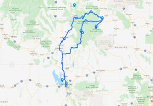 Coeur Volcanique et périphérie sauvage du Yellowstone 1 Carte Yellowstone