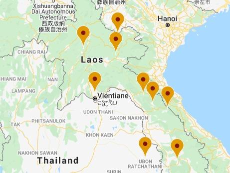 Nature et Faune Sauvage du Nord Laos 1 Carte de Laos VS 18 jours